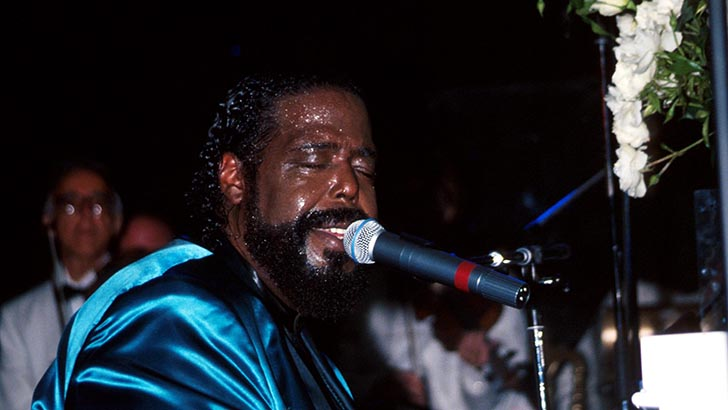 SD09/07/93 BARRY WHITE PHOTO BY MITCHELL LEVY RANGEFINDER/GLOBE PHOTOS,INC.