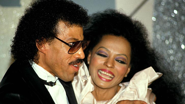 LIONEL RICHIE AND DIANA ROSS PHOTO BY:GLOBE PHOTOS, INC