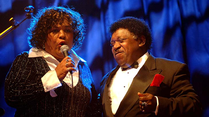 Percy Sledge and his wife